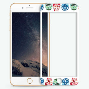 Owl Artistic Skin Screen Protector For iPhone