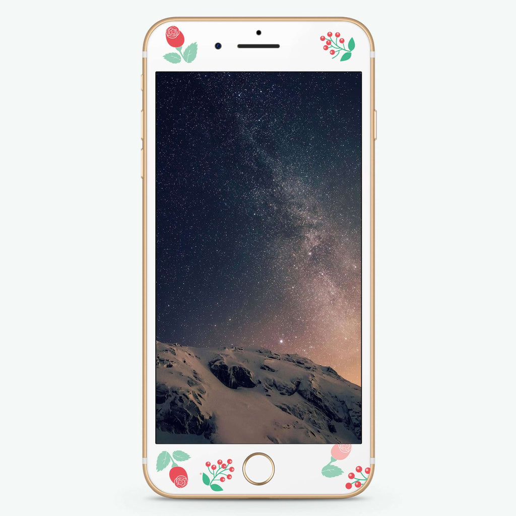 Rainy Rose Artistic Skin Screen Protector For iPhone