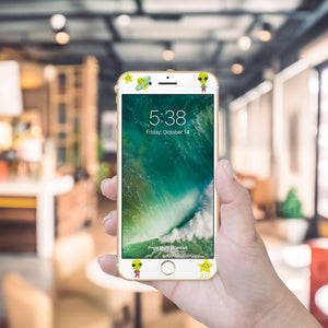 Cute Aliens Artistic Skin Screen Protector For iPhone