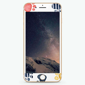 Kitty's footprint Artistic Skin Screen Protector For iPhone