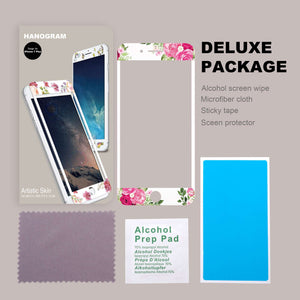 Watercolor Rose Artistic Skin Screen Protector For iPhone
