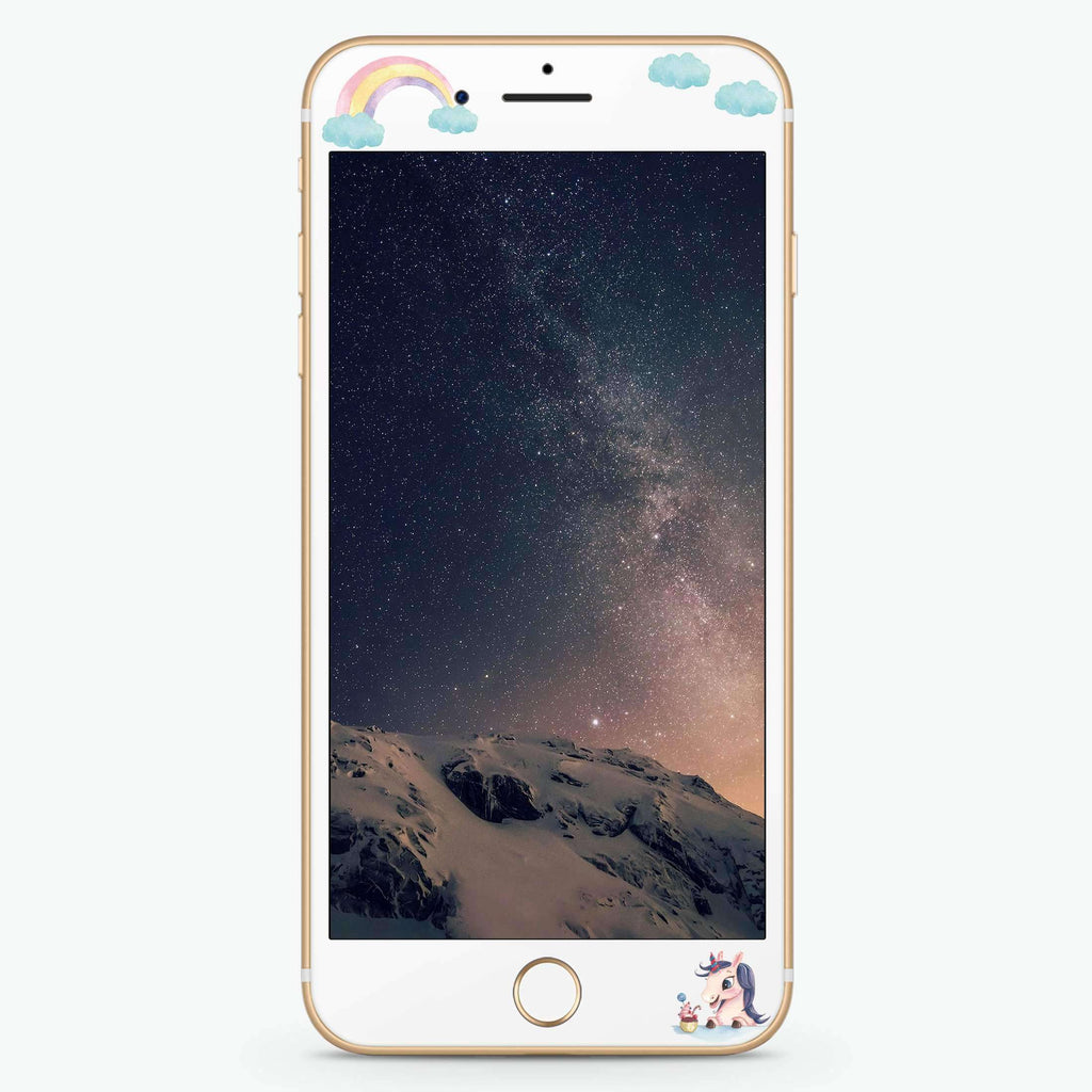 Rainbow Unicorn Dancing Artistic Skin Screen Protector For iPhone