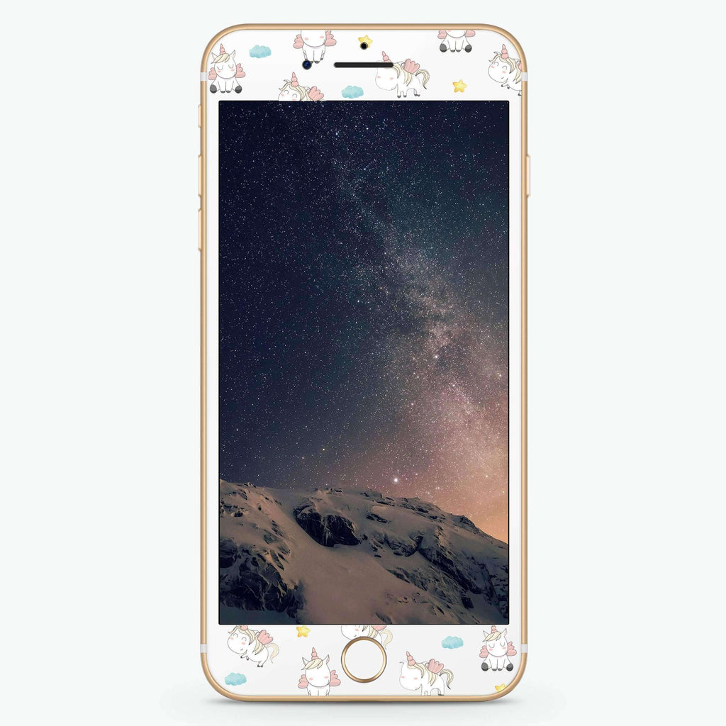 Baby Cute Unicorn Artistic Skin Screen Protector For iPhone