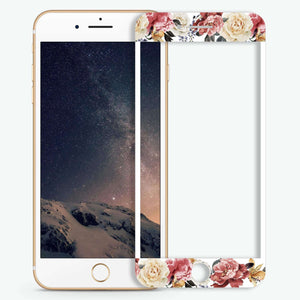 Art of Classic Floral Artistic Skin Screen Protector For iPhone
