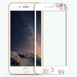 Glamour Floral Artistic Skin Screen Protector For iPhone