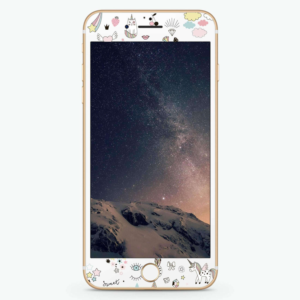 My lovely Cartoon Artistic Skin Screen Protector For iPhone