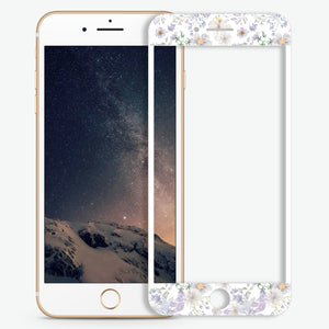 Serene Flowers Pattern Artistic Skin Screen Protector For iPhone