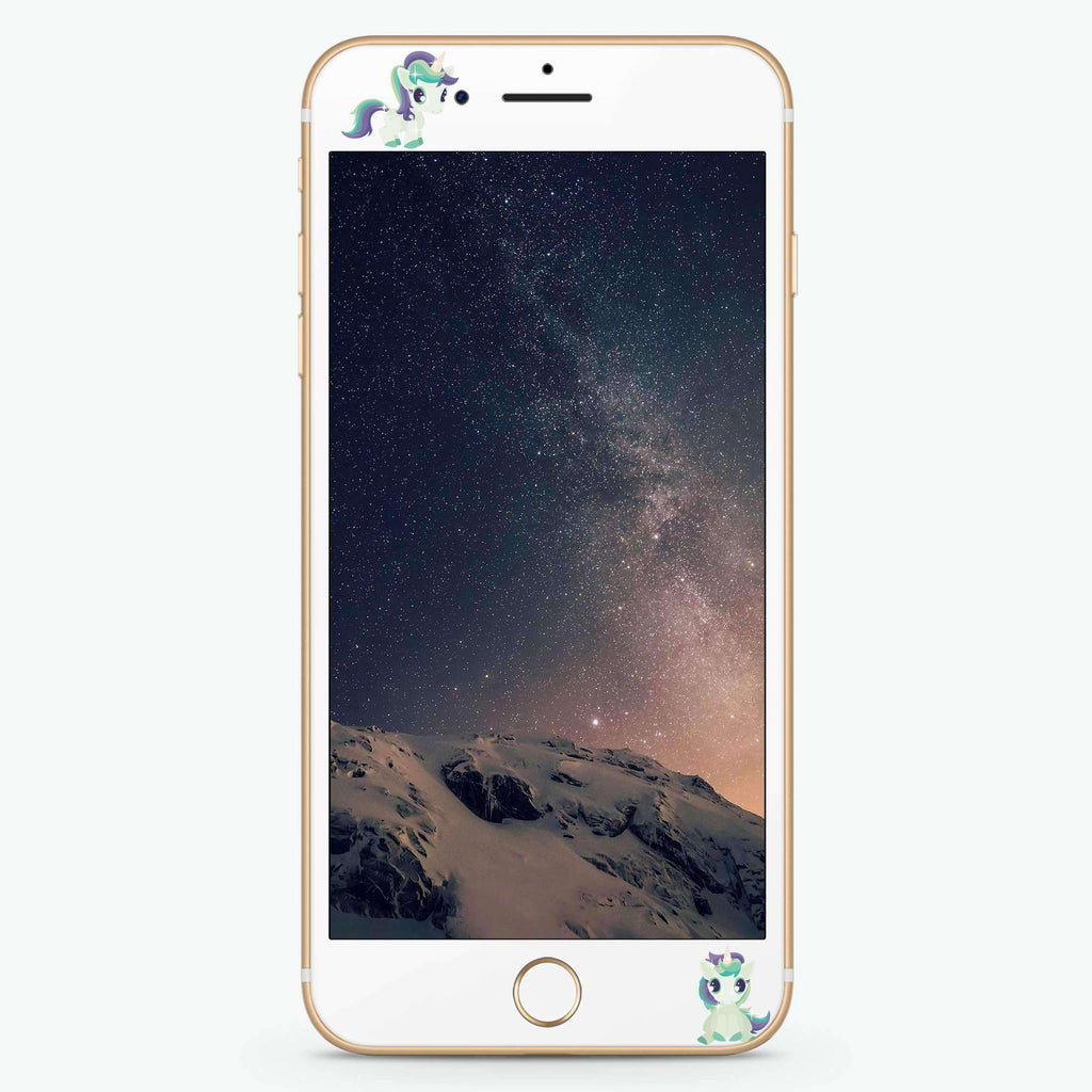 Queen & Unicorn Artistic Skin Screen Protector For iPhone