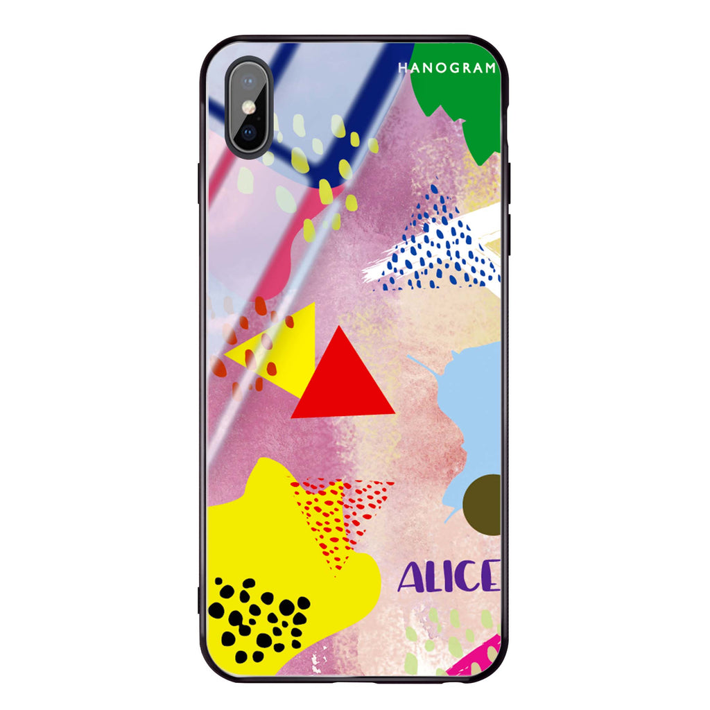 Trendy Abstract III iPhone XS Max Glass Case