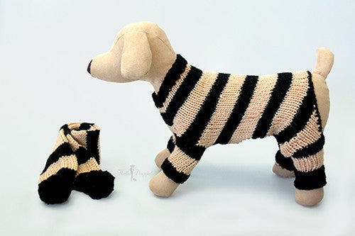 Cozy Knitted Jumper with Scarf - Miami Pooch Pet Boutique