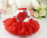Red Leaves Dog Tutu Dress - Miami Pooch Pet Boutique