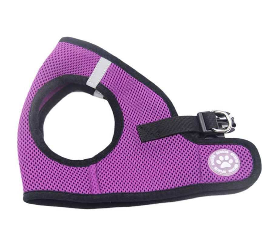 Purple Mesh Dog Harness