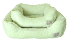 Lime Circle Print Dog Bed - Miami Pooch Pet Boutique