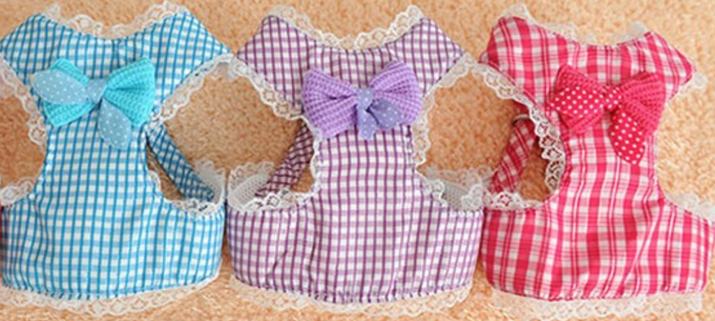 Pretty Bow Dog Harness With Leash