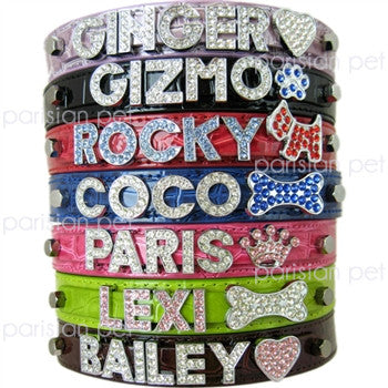 Croc Personalized Dog Collars - Miami Pooch Pet Boutique