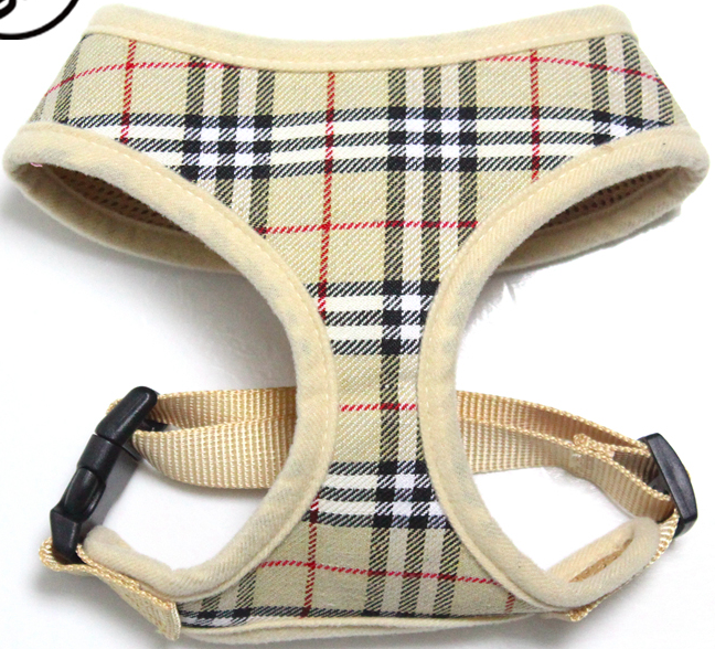 Designer Inspired Plaid Dog Harness