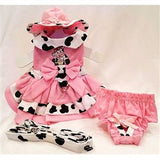 Cowgirl Dog Harness Dress Set - Miami Pooch Pet Boutique