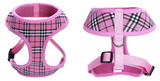 Pink Designer Inspired Plaid Dog Harness - Miami Pooch Pet Boutique