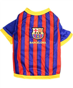 """Barcelona"" Soccer Dog Jersey - Miami Pooch Pet Boutique"