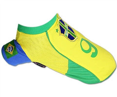 """Brazil"" Soccer Dog Jersey - Miami Pooch Pet Boutique"