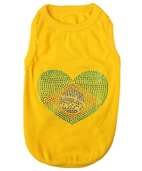 """Brazil"" Dog Tank - Miami Pooch Pet Boutique"