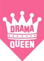 "Hot Pink ""Drama Queen"" Dog Bandana - Miami Pooch Pet Boutique"