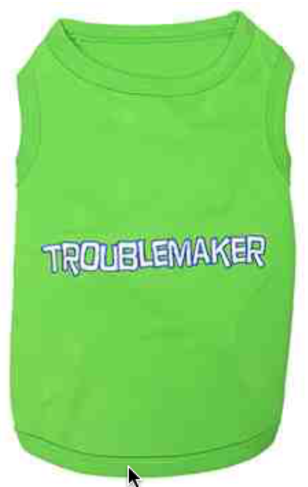 """Troublemaker"" Dog Tank - Miami Pooch Pet Boutique"