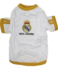 "White ""Real Madrid"" Dog Jersey"