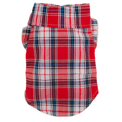 Red Plaid Dog Shirt - Miami Pooch Pet Boutique