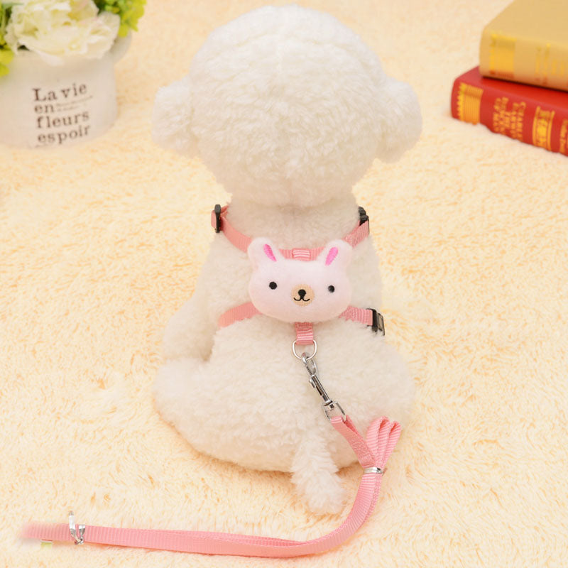 Pink Bunny Dog Harness and Leash