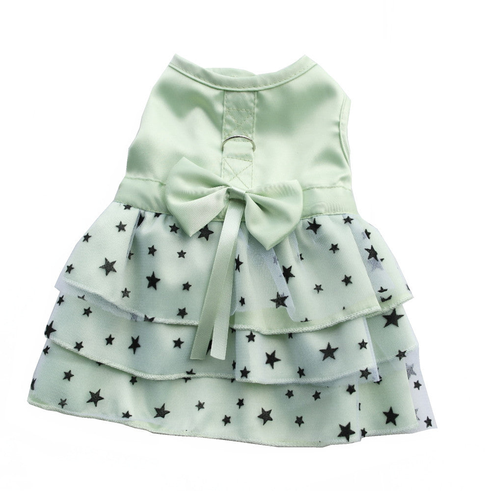 Green Star Dog  Harness  Dress