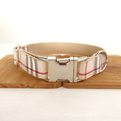 Designer Inspired Plaid Dog Collar - Miami Pooch Pet Boutique
