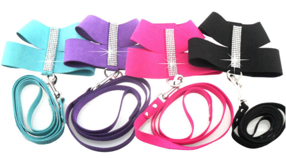 Bling Dog Harness With Leash