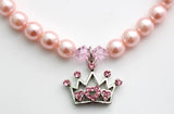 Pink Crown Dog Necklace - Miami Pooch Pet Boutique