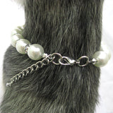 Pink Paw Pearl Dog Necklace - Miami Pooch Pet Boutique