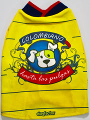 """Colombiano Hasta Las Pulgas"" Dog Tee - Miami Pooch Pet Boutique"