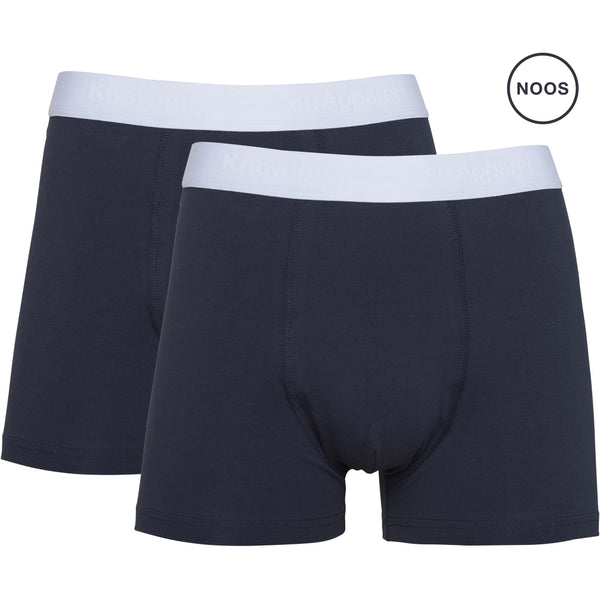 Knowledge Cotton Apparel MAPLE 2 pack underwear Underwear 1001 Total Eclipse