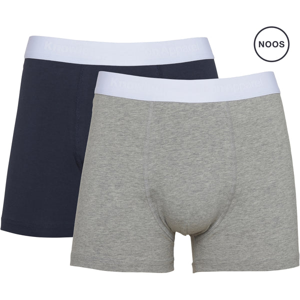 Knowledge Cotton Apparel MAPLE 2 pack underwear Underwear 1012 Grey Melange
