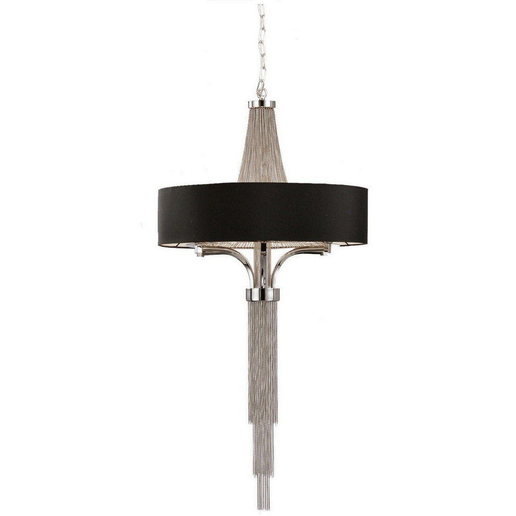 Langan Chandelier Large With Black Shade E14 40W 8