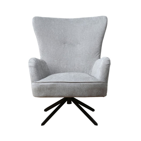 Chenille Grey Armchair.