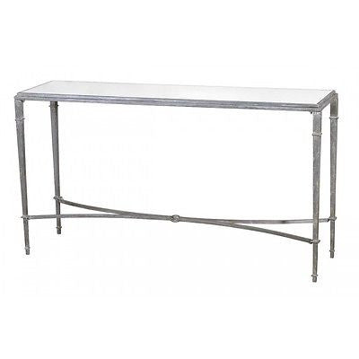 Gin Shu Colonial Metal Slim Console Table