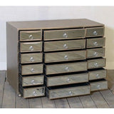 Antique Silver Wooden Vintage Venetian mirrored Chest of Drawers/sideboard Large
