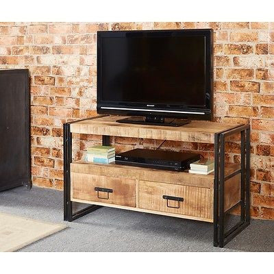 COSMO INDUSTRIAL RECLAIMED METAL AND HARD WOOD TV  MEDIA UNIT