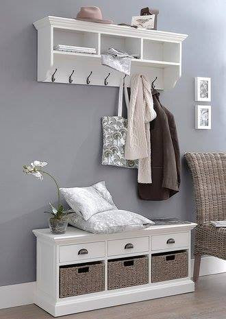 Hall coat hook and seat set