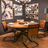 Large Live Edge Collection Round Dining Table /TABLE ONLY