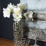 Silver Coral Inspired Perforated Vase