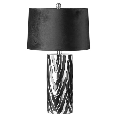 Large Jaspa Table Lamp With Black Velvet Shade