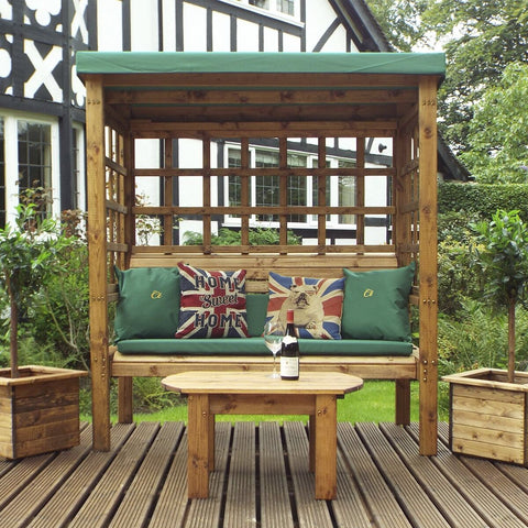 Hand Crafted Devon Three  Seater Arbour garden furniture.