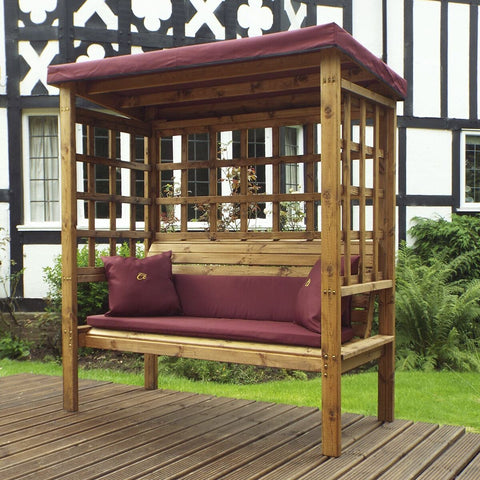 Hand Crafted Devon Three  Seater Arbour garden furniture