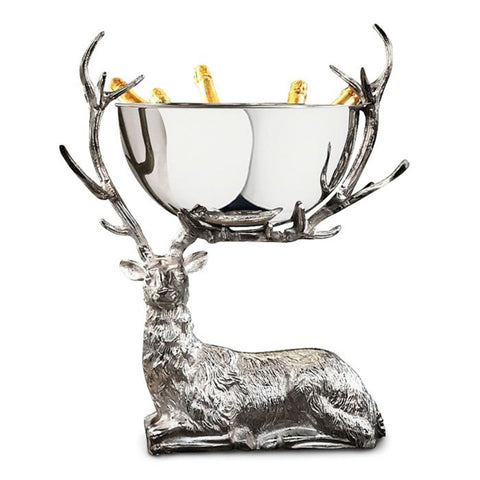 Large Stag Champagne wine cooler bucket punch bowl Bar - Restaurant-hotel.